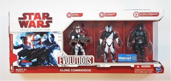 Clone Commandos Star Wars Legacy Collection Evolutions 3 Figure Set