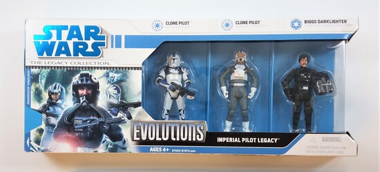 Imperial Pilot Legacy Star Wars Legacy Collection Evolutions 3 Figure Set