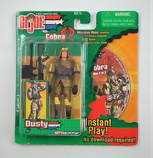 Dusty Spy Troops Mission Disc G.I. Joe Carded Figure & Game