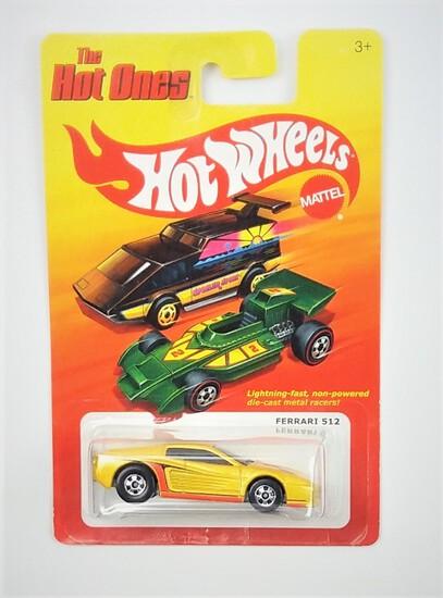 2011 Ferrari 512 Yellow Hot Wheels The Hot Ones Collectible Diecast Car