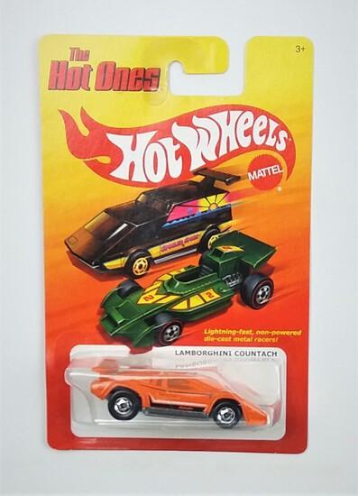 2011 Lamborghini Countach Orange Hot Wheels The Hot Ones Collectible Diecast Car