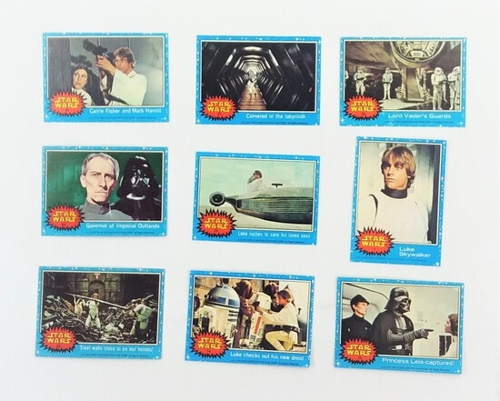 1977 Star Wars Topps Trading Cards Grouping