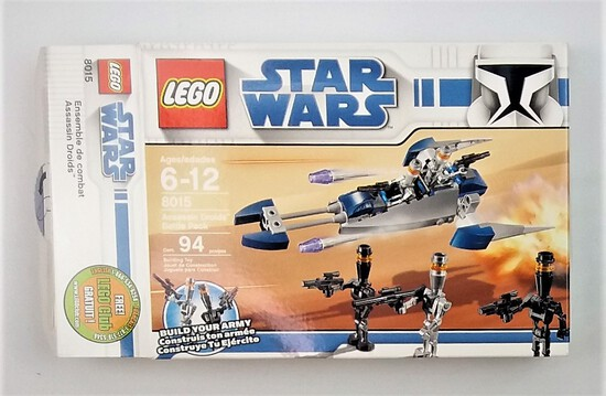 Star Wars Lego 8015 Assassin Droids Battle Pack BOX ONLY