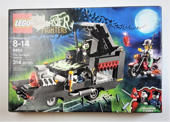 Lego 9464 The Vampyre Hearse 314 Piece Building Block Set