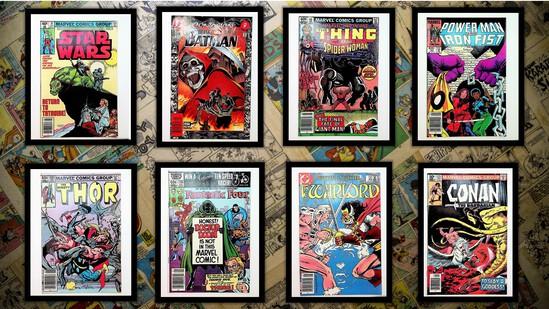 (8) Action/Superhero Comic Books