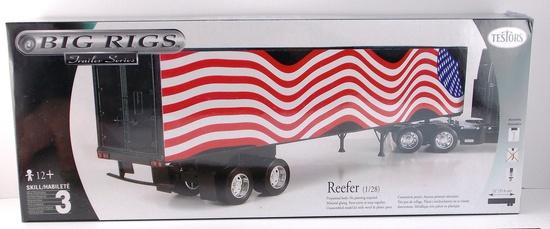 Testors Big Rigs Reefer Trailer 1/28 Scale Model