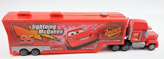 Disney Cars Mack Superliner 2005 Fold Out Truck Hauler Playset