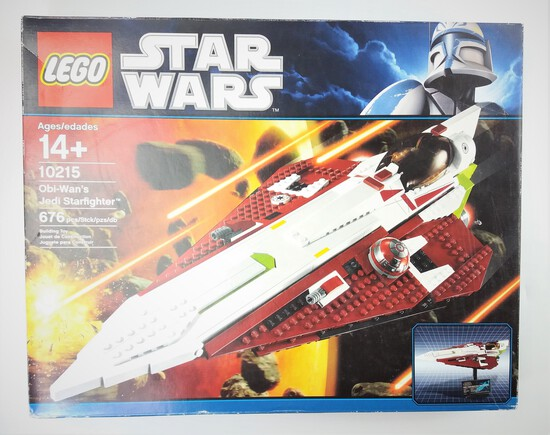 Star Wars Lego 10215 Obi Wan's Jedi Starfighter 676 Piece Building Block Set