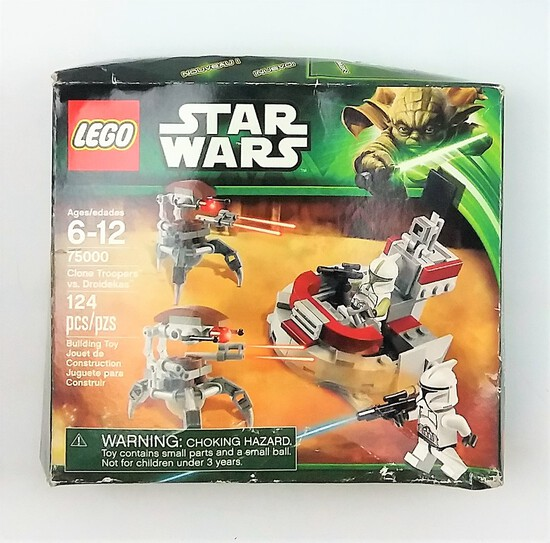 Star Wars Lego 75000 Clone Troopers Vs Droidekas BOX ONLY