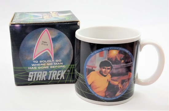 1991 Star Trek Chekov Ceramic Mug - Hamilton Gifts Presents in Original Box