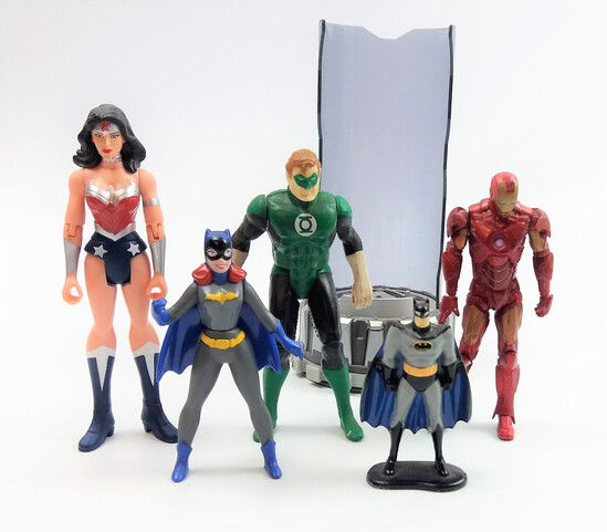 Collectible Action Figure Grouping