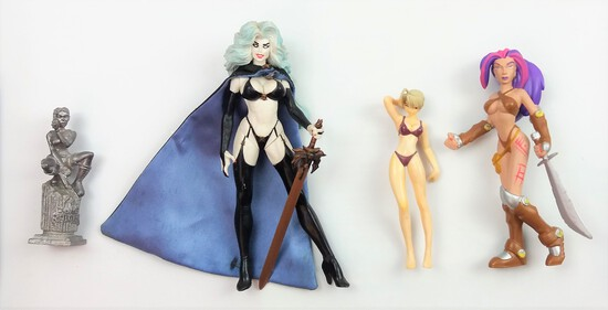 Collectible Female Action Heroes Figure Grouping