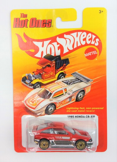2011 1985 Honda CRX Red Hot Wheels The Hot Ones Collectible Diecast Car