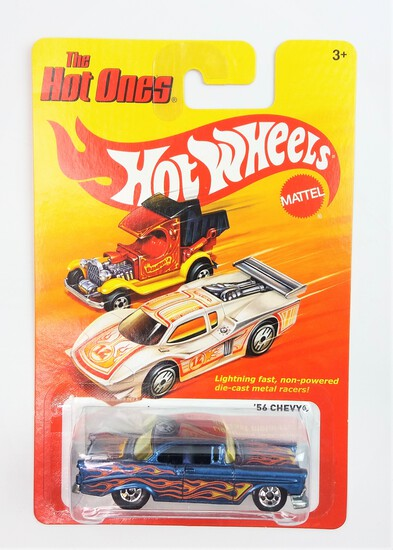 2011 '56 Chevy Blue Hot Wheels The Hot Ones Collectible Diecast Car