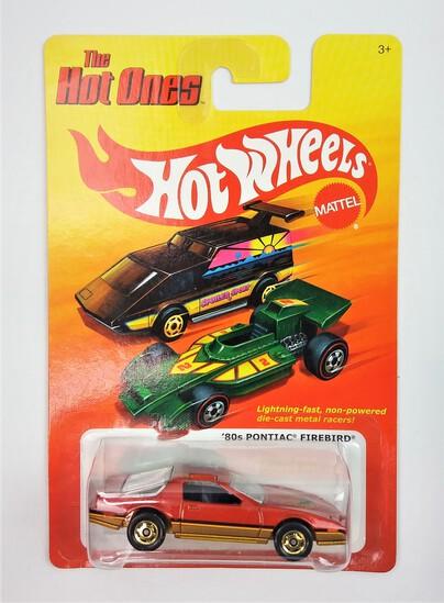 2011 '80s Pontiac Firebird Dark Orange Hot Wheels The Hot Ones Collectible Diecast Car