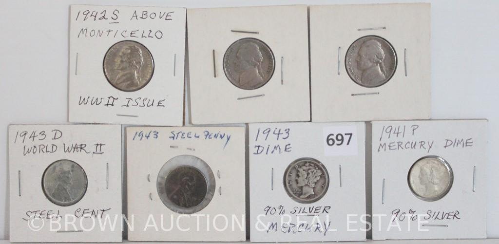 Assortment of (7) coins: 1941     Auctions Online | Proxibid