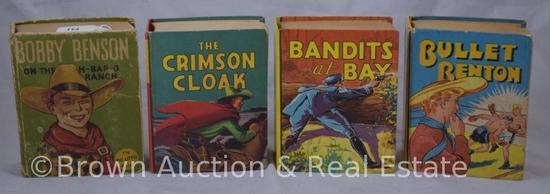 (4) Big Little Books: Bobby Benson; Bullet Benton; Crimson Cloak; Bandits at Bay