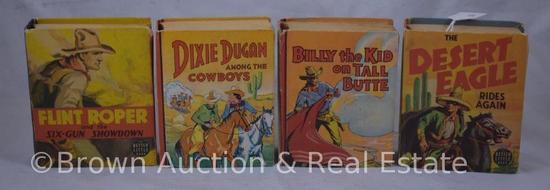 (4) Western themed Big Little Books (split binding on 1)