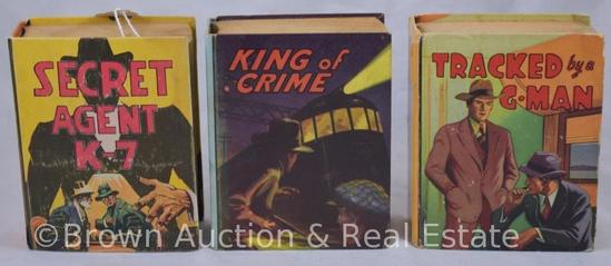 (3) Saalfield pubishing Big Little Books, Crime/Detective themed