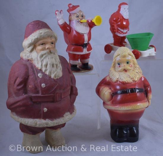 (4) Vintage Santas