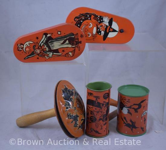 Assorted Vintage Halloween noise makers