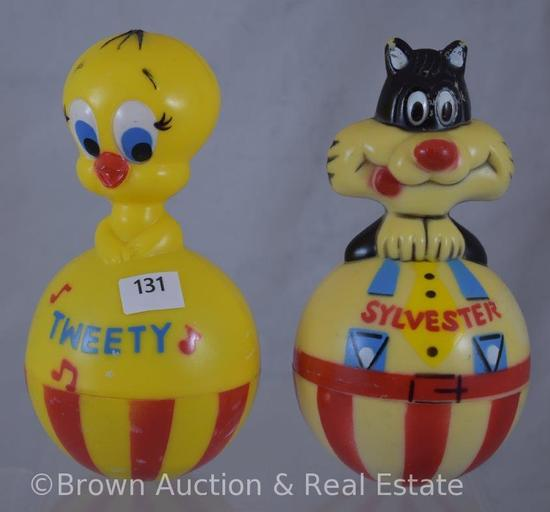 (2) Roly Poly toys - Sylvester and Tweety