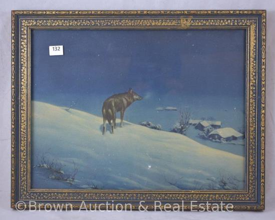 """Lone Wolf"" print, 13.5"" x 10.5"" framed size"