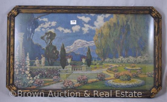"""Fantasy Garden"" print, 19.5"" x 11"" framed size"