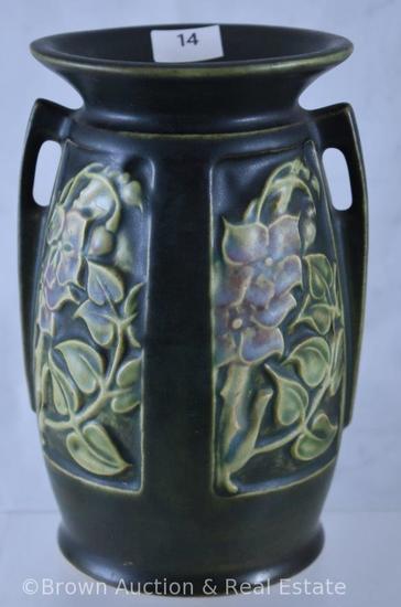 "Roseville Rosecraft 6"" vase, green"