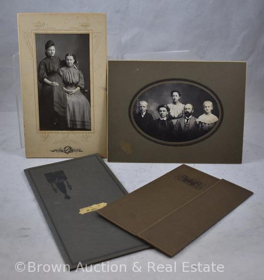 (4) Vintage photographs in cards