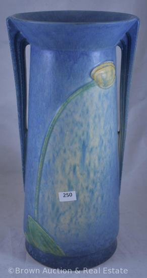 "Roseville Futura 437-12"" ""Weeping Tulip"" vase, blue - wow!"