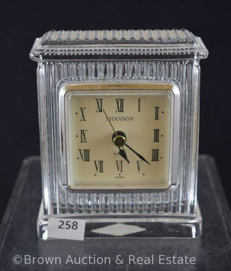 "Waterford Crystal 4.75"" quartz clock"