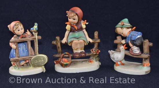 "(3) Hummel figurines, 4""-5"" tall, various marks"