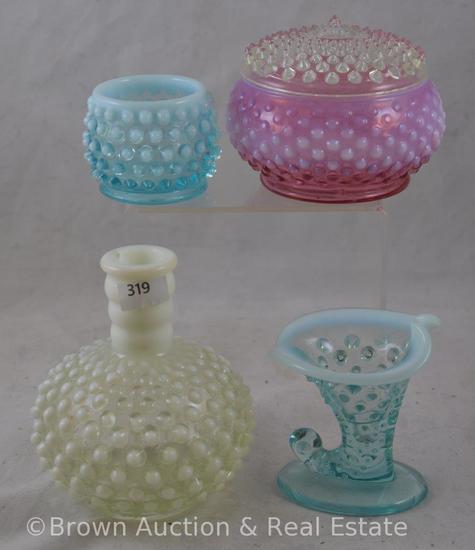 (4) Miscl. Fenton Hobnail pieces