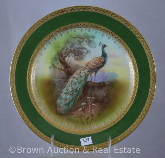 "Royal Bayreuth 9.5""d Peacock plate"