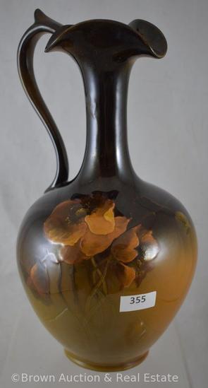 """Mrkd. Rookwood standard glaze 10.5""""h ewer, Poppies - Nice piece!"""