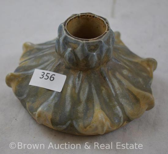 """French bluish gray pottery ink well, 2.5"""" tall"""