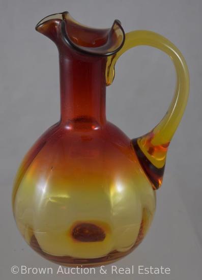 "Amberina Glass 5.5""h cruet"