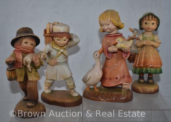"""(4) Anri figurines, 6"""" tall"""