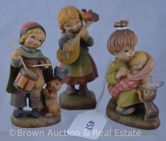 "(3) 3"" Anri figurines"