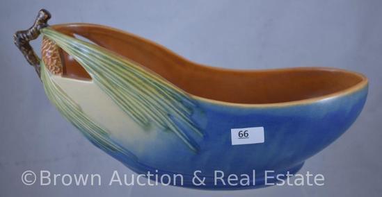 "Roseville Pine Cone 429-10"" bowl, blue"