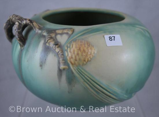 "Roseville Pine Cone 278-4"" bowl, green"