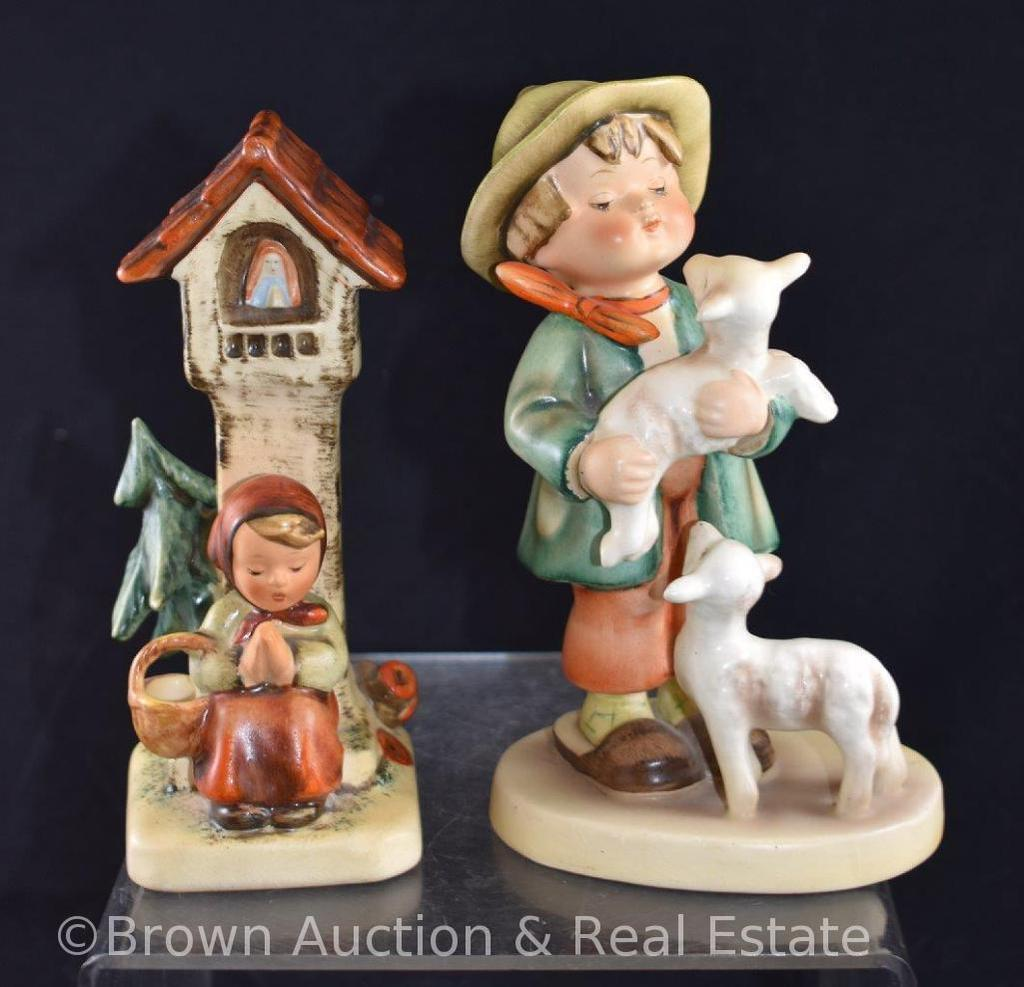 """(2) Hummel figurines: 5.5"""" tall, both have 50's marks"""