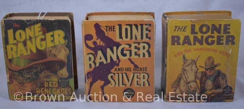 (3) Lone Ranger Big Little Books