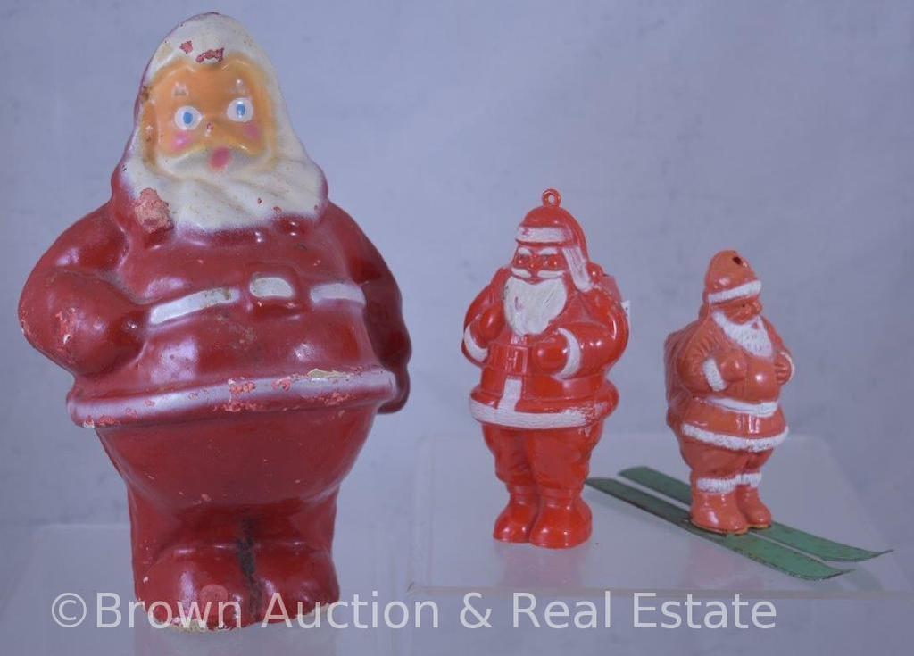 (3) Vintage Santas