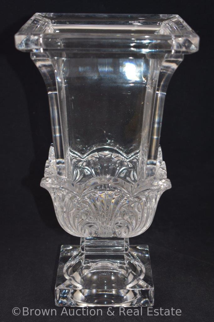 """Made in Germany 24% Lead Crystal 12""""h vase, paper label"""