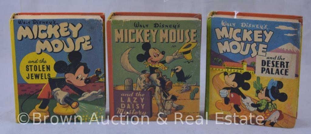 (3) Mickey Mouse Big Little Books