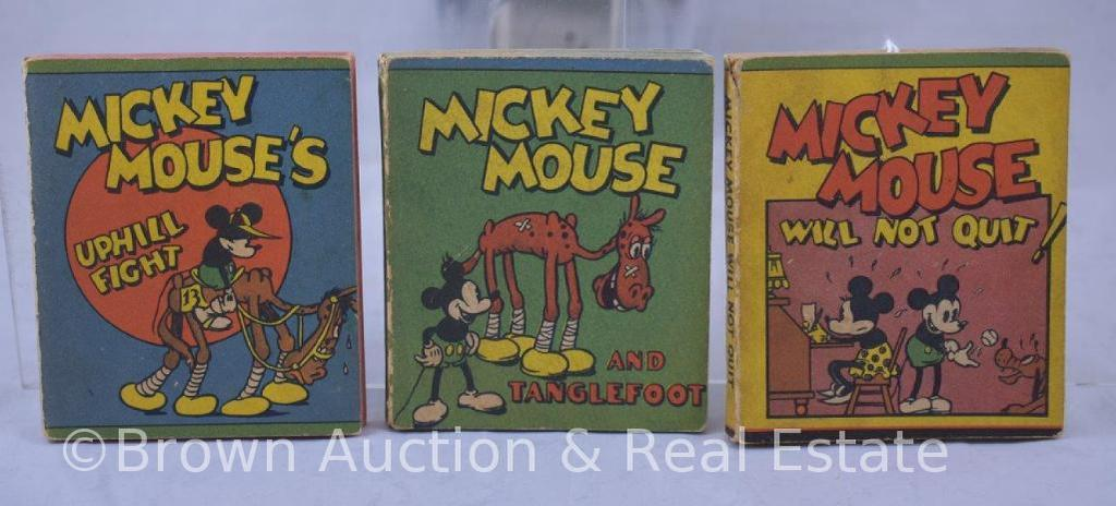 (3) Whitman publishing Mickey Mouse penny/premium books, soft covers, glued