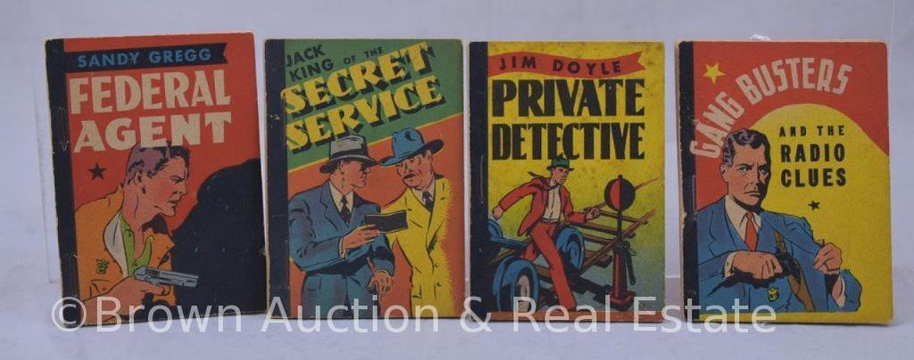 (4) Whitman publishing Penny Books, soft covers, stapled, detective themed