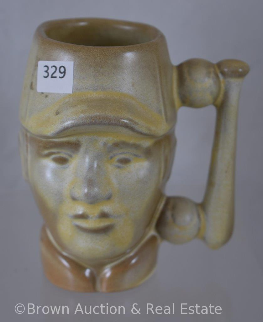 "Frankoma 4.25""h baseball mug, 1978"